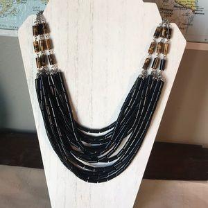 Lia Sophia Black tiger's eye Bead necklace